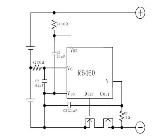 为了能稳定电路工作,c1,c2 和c3 的值应该大于等于0.01μf.